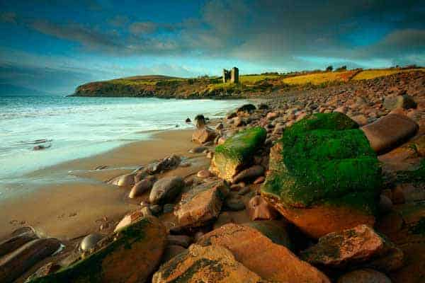 Cill Mihuire Castle on the Dingle Peninsula in Ireland