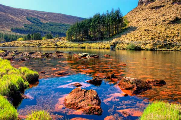 Mountain lake on the Dingle Peninsula in Ireland