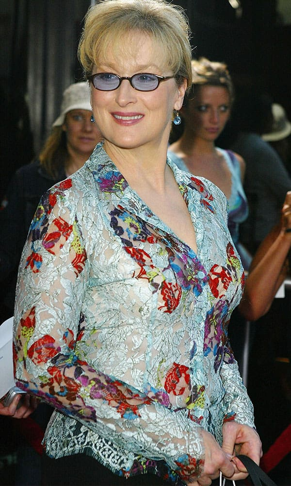 Fashion for Women Over 60: Meryl Streep at The Manchurian Candidate Premier. Photo Credit: Getty Images