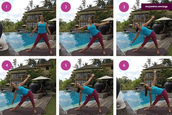 Yoga for Seniors Triangle Pose