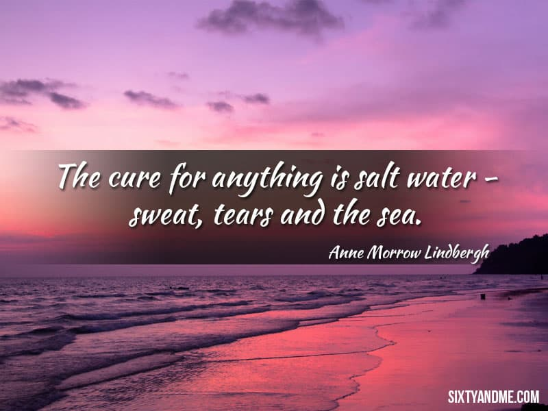 Anne Marrow Lindbergh - The cure for anything is salt water – sweat, tears and the sea.