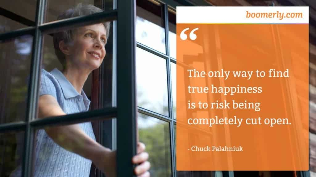 """""""The only way to find true happiness is to risk being completely cut open."""" - Chuck Palahniuk"""