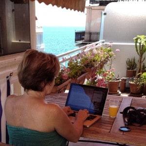 Mon bureau depuis un mois sur la Méditerranée à Nice