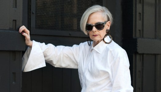 """A """"White Shirt"""" is the Key to Fashion for Women Over 60 (Video)"""