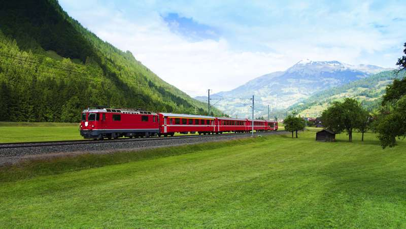 Swiss train holiday train