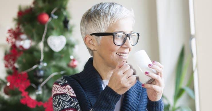 older woman christmas holidays