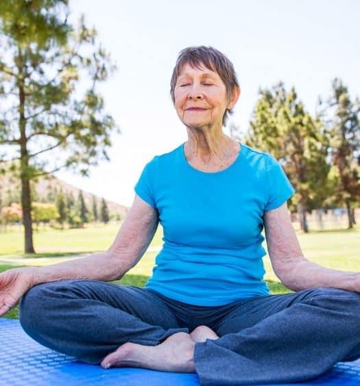 Senior Woman Mindfulness-Meditation