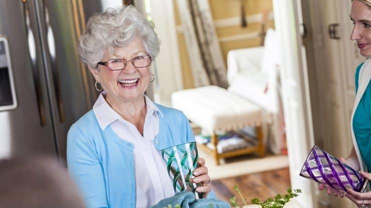 senior woman downsizing