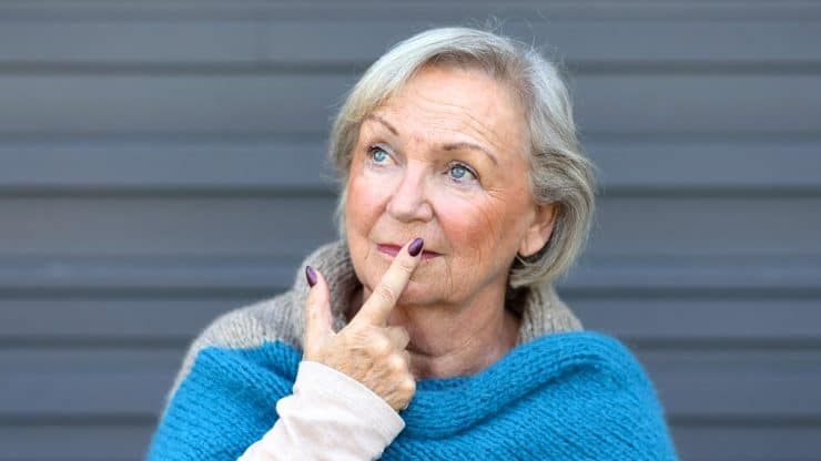 facing death senior woman