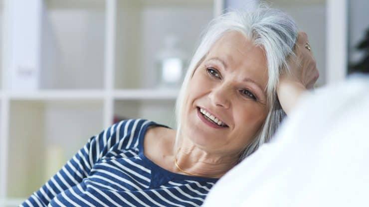 Senior woman sense of purpose