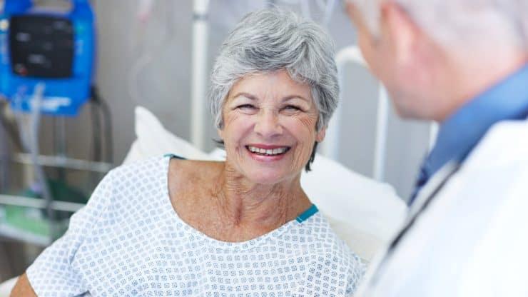 senior woman hospital
