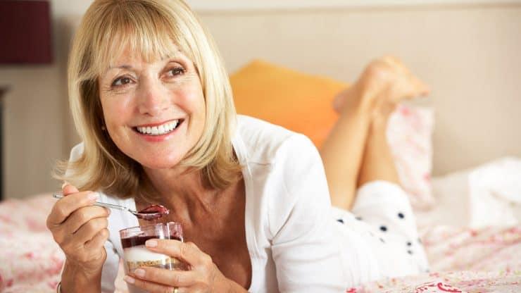 Senior Woman Healthy Eating