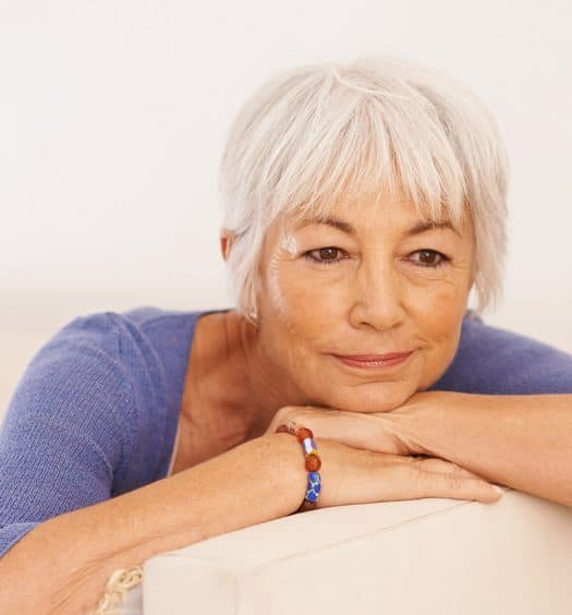 senior woman grief