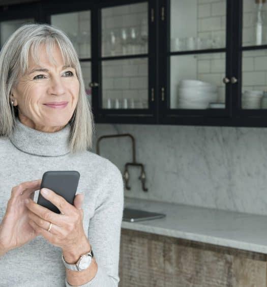 Senior woman technology