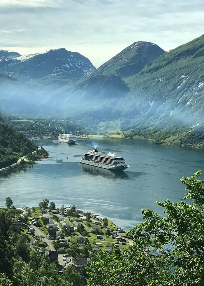 Seven sisters fall Viking Ocean Cruises boat
