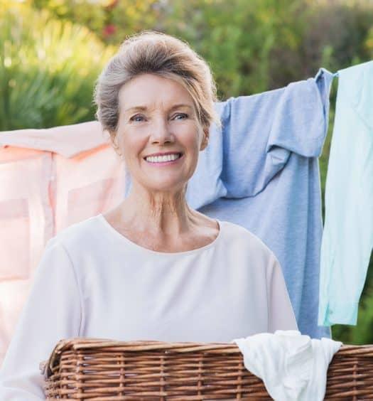 senior woman housework