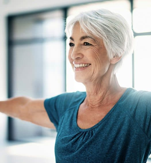 senior woman healthy back