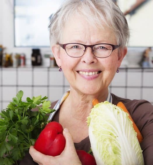 senior woman healthy eating
