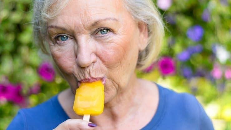 older woman nostalgia happiness