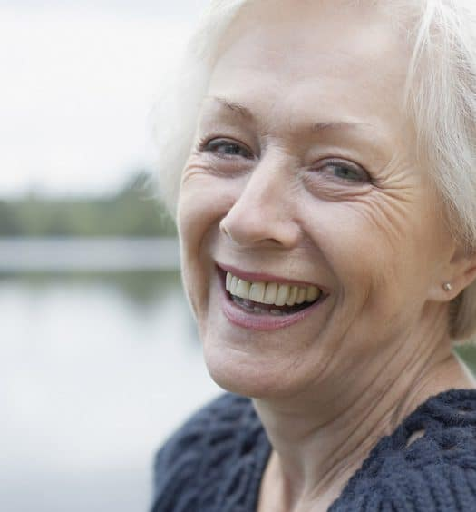 Senior woman happiness in life after 60