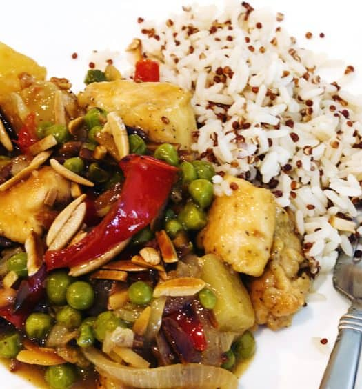 Chicken-with-Pineapple-and-Almonds-Recipe