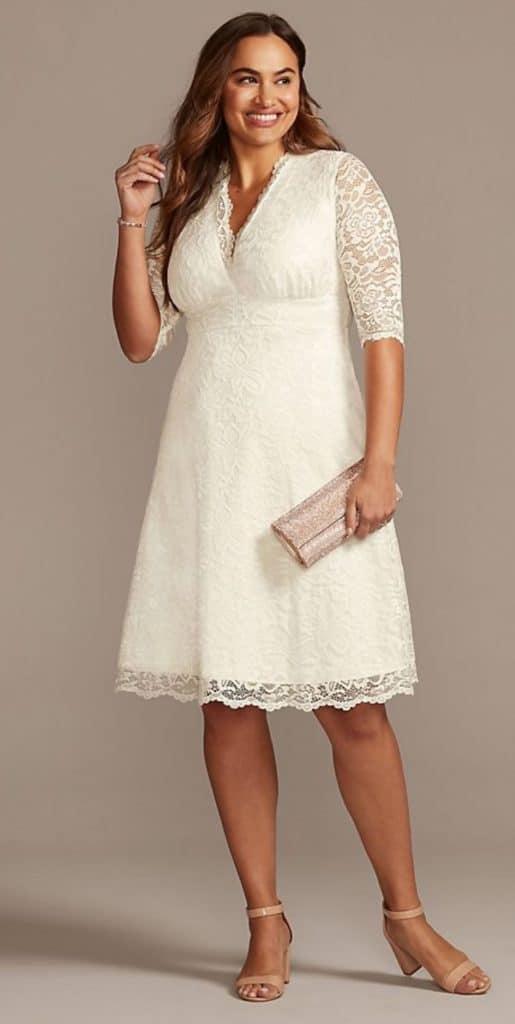 Plus Size Wedding Belle Short Dress